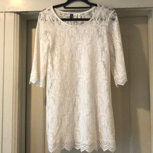 Dresses & Skirts - H&M white lace dress